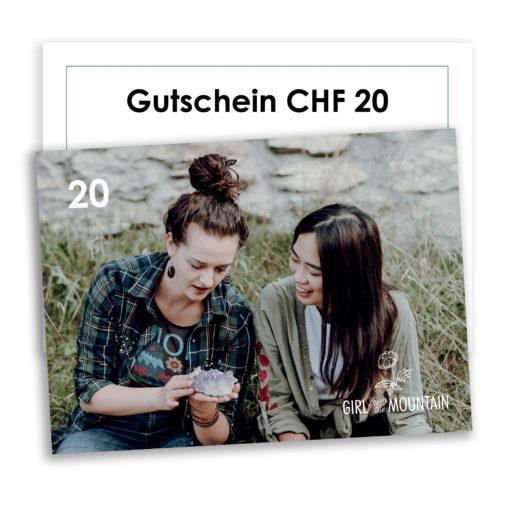 Gutschein wert 20 schweizer franken