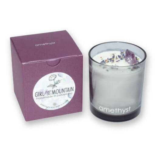 Amethyst scented candle