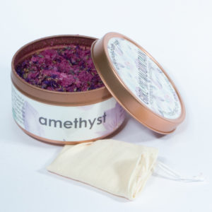 Bath salt amethyst