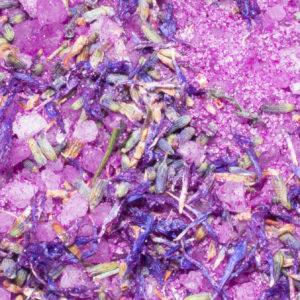 Bath salt amethyst