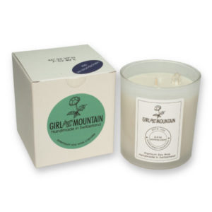 Blumental scented candle in a glass