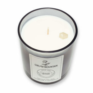 Grand Hotel scented candle in a glass