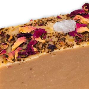 Rose quartz natural soap